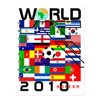 World Cup Soccer 2010 All Team Flags Postcard