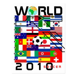 World Cup Soccer 2010 All Team Flags Postcard