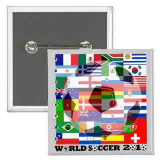 World Cup Soccer 2010 Flag Button