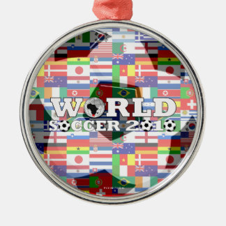 World Cup Soccer 2010 Flags Ornament Round