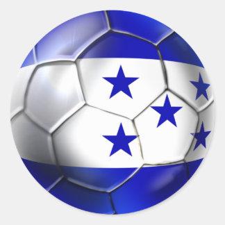 World Cup Soccer Brazil 2014 Honduras flag ball Round Sticker