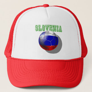 World Cup Soccer Brazil 2014 Slovenia flag ball Trucker Hat