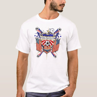 World Cup Soccer Brazil 2014 US flag USA futbol T-Shirt