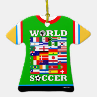 World Cup Soccer Flags T-Shirt Ornament