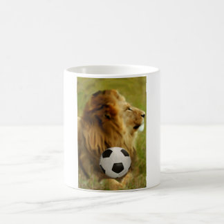 World Cup Soccer Mug - Lion with Ball South Africa