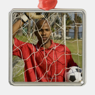 World Cup Soccer to be held in South Africa 2010 Silver-Colored Square Decoration