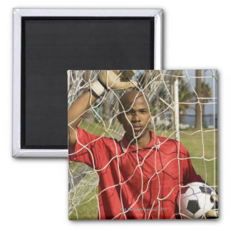 World Cup Soccer to be held in South Africa 2010 Square Magnet