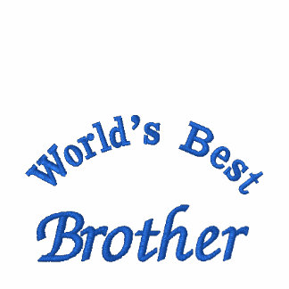 World d best brother embroidered shirt embroidered polo shirts