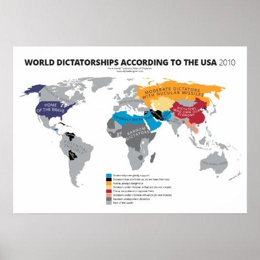 World Dictatorships According to the USA Print