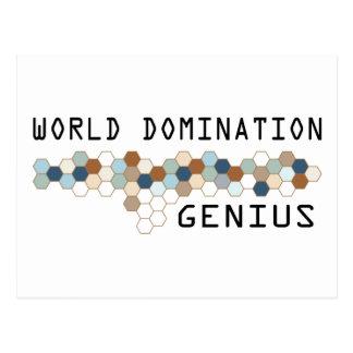 World Domination Genius Postcard