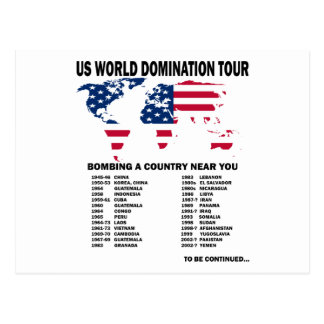 World Domination Tour Postcard