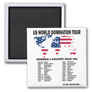 World Domination Tour Square Magnet
