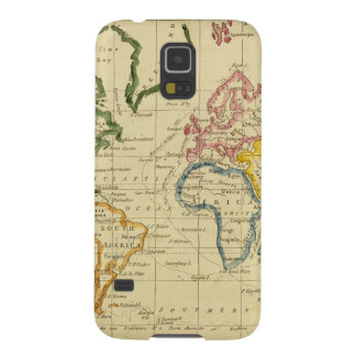 World engraved map galaxy s5 case