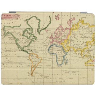 World engraved map iPad cover