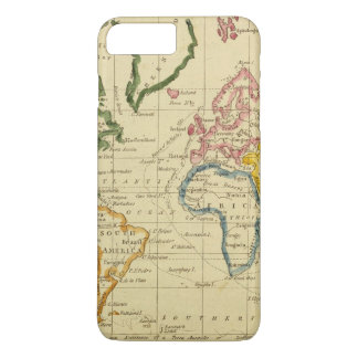 World engraved map iPhone 8 plus/7 plus case