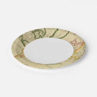 World engraved map paper plate