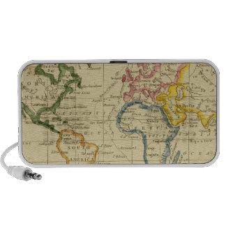 World engraved map mini speaker