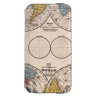 World Equatorial Projection and Polar Projection Incipio Watson™ iPhone 6 Wallet Case