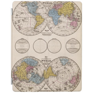 World Equatorial Projection and Polar Projection iPad Cover