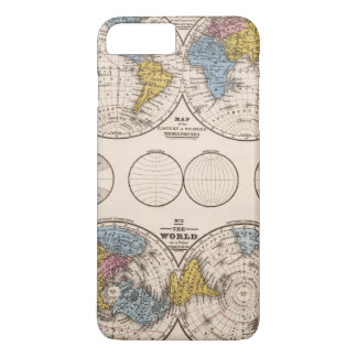 World Equatorial Projection and Polar Projection iPhone 8 Plus/7 Plus Case