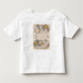 World Equatorial Projection and Polar Projection Toddler T-Shirt