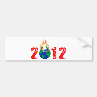World Exploding in 2012 Bumper Sticker