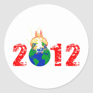 World Exploding in 2012 Round Sticker