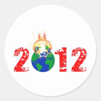 World Exploding in 2012 Round Sticker