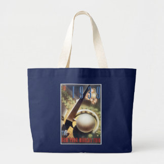 World Fair Travel Tote Bag With Vintage Poster Art