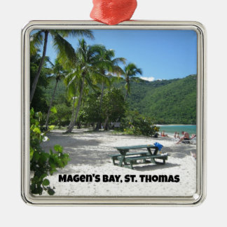 World famous Magen's Bay, St. Thomas Christmas Ornament