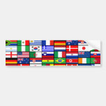 World Flags 2010 Car Bumper Sticker