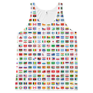 world flags All-Over print tank top