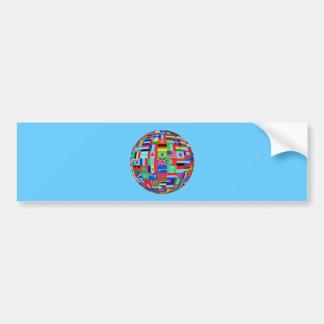 WORLD FLAGS BUMPER STICKER
