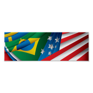 World Flags Poster, USA, Brazil and More Poster