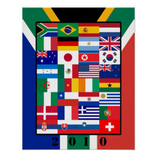 World Flags Soccer 2010 Poster