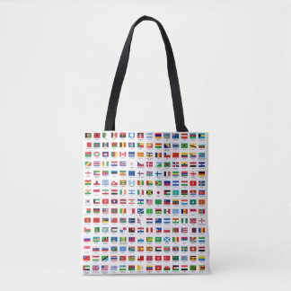 world flags tote bag