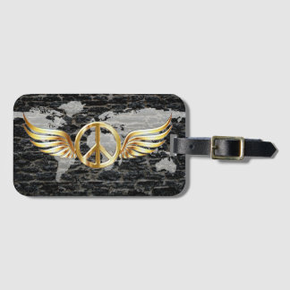 World flying Peace Luggage Tag