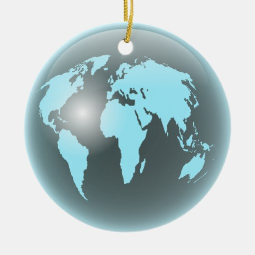 World glass globe round ceramic decoration zazzle
