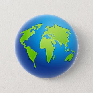 World Globe 6 Cm Round Badge