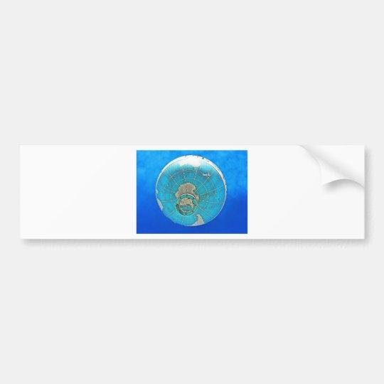 World Globe Balloon and Deep Blue Sky Bumper Sticker