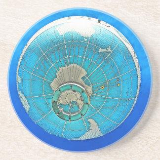 World Globe Balloon and Deep Blue Sky Drink Coasters