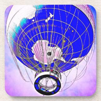 World Globe Balloon and Pink Hue Sky Coasters