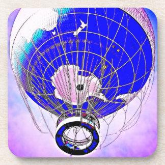 World Globe Balloon and Surreal Sky Coasters