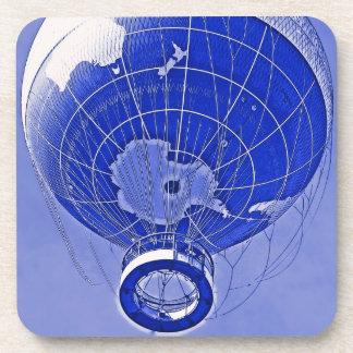 World Globe Balloon in Blue Coaster