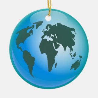 World Globe Round Ceramic Decoration