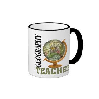 World Globe Geography Teacher Ringer Mug