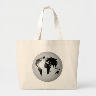 World Globe Large Tote Bag