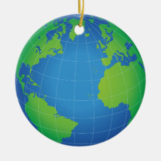 World Globe Map Christmas Ornament