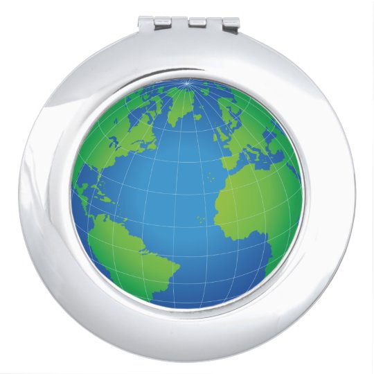 Map Of The World Globe View.World Globe Map Compact Mirror