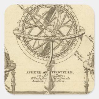 World Globe Square Sticker